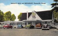 Linen Postcard Dodson's Grill and Restaurant in Thomasville, Georgia~123215