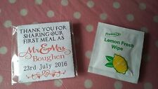 wedding party favour gift party bag personalised wipes x 50