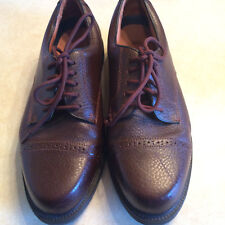 Mens Brown Leather oxford style Docker size 10.5 EXC
