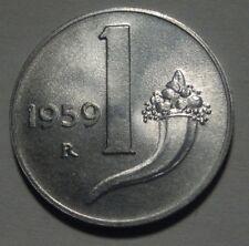 1 LIRA 1959 FIOR DI CONIO DA ROTOLINO DI ZECCA ITALY TOP !