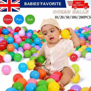 50PCS Colorful Plastic Ball Pit Balls Soft Ocean Ball Toy Baby Kids Pool Toys UK