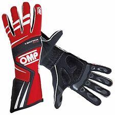 OMP Tecnica Evo Race Gloves Red / Black / White Small (S)
