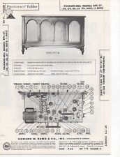 1965 PACKARD BELL RPC-27 RADIO SERVICE MANUAL PHOTOFACT 28 34 36 37 SCHEMATIC