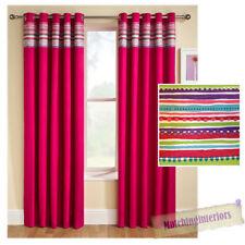 Rideaux et cantonnières vintage/rétro prêt à l'emploi en polyester pour la maison