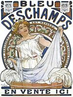 ADVERTISEMENT ART NOUVEAU MUCHA BLEU DESCHAMPS ART POSTER PRINT LV339