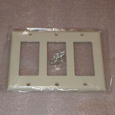 10-Pack Light Almond Thermoset Standard Size Device Mount Leviton 80436-T 6-Gang Decora//GFCI Device Decora Wallplate