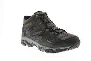 Hi-Tec Ravus Vent Mid WP 53115 Mens Gray Suede Lace Up Hiking Boots
