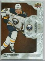 19-20 UPPER DECK ENGRAINED MAHOGANY ROOKIE VICTOR OLOFSSON 10/10 #81