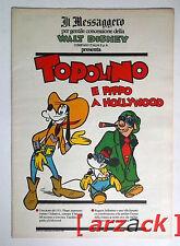TOPOLINO supplemento a IL MESSAGGERO Topolino e Pippo a Hollywood 30/6/90