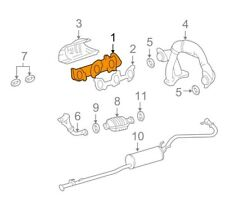 For Toyota Genuine Exhaust Manifold Left 1714262090