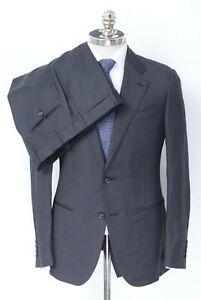 NWT CARUSO Gray Mélange Superfine 130's Wool 2Btn Suit 40 R (EU 50) Drop 8