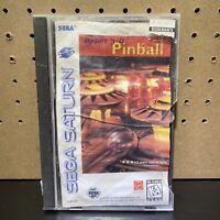 Hyper 3-D Pinball  (Sega Saturn, 1996) 3D Complete -Damaged Case & Manual-Tested
