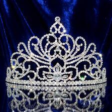 """Diadème Bijou accessoire femme miss mariage argenté cristal """"DUNE"""" tiara silver"""