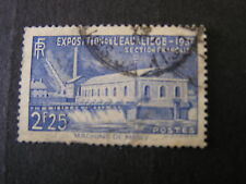 FRANCE, SCOTT # 388,  2.25fr.VALUE BRIGHT ULTRA 1939 WATER EXPO. ISSUE USED