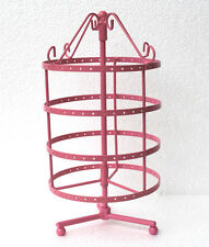 New 144  holes pink color rotating earrings jewelry display stand rack holder