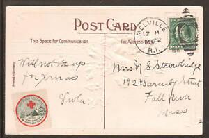 US Sc WX7, 374 on 1911 Happy Christmas Wishes PPC