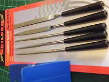 5 Pc Conjunto de archivos de aguja de diamante c/w Estuche Plástico Metal electrónico 843