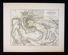 1855 Alison Military Map - Napoleon Battle of Jemappes 1792 - Hainaut Belgium