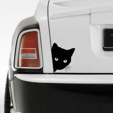 Funny Cat Face Peering Car Sticker Window Decal Truck Auto Bumper Body Black New