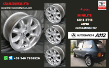 4 Cerchi Minilite 13 pollici 4x98  Autobianchi A112 Abarth Y10 Primula wheels