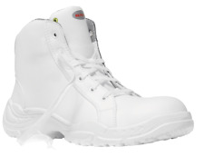 Elten  ESD S2 White Loop Mid Safety Shoe Steel Toe Cap Mens