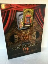clean lost tarot nostradamus 78 card deck 160 page book boxed apothecary 16th C