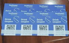 (x8) Southwest Airlines Coupons Drink Voucher. Fast Shipping Exp: Oct 31, 2020