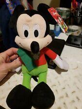 "Walt Disney CHRISTMAS HOLIDAY WINTER MICKEY MOUSE 14"" Plush Stuffed Animal NEW"