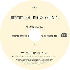Bucks County, Pennsylvania (1876) PA History Genealogy Biography - Book on CD