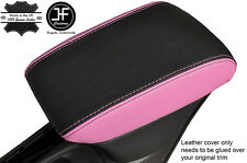 BLACK & PINK LEATHER ARMREST COVER FITS VAUXHALL OPEL ASTRA K MK7 2016+
