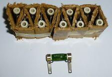 10 résistances Sauthy 5 ohms 4 watts NOS R30 8x30