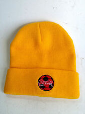 Coca Cola Hat Winter Beanie Hat Yellow Embroidered Logo Advertising Promo  Cyprus fbc109d23fe6
