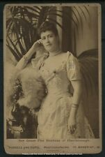 Vintage Marlborough Royalty Duchess Lily Spencer-Churchill Cabinet Card c 1890s