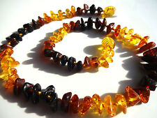 RAINBOW COLOR BALTIC AMBER CHILDREN'S NECKLACE 33cm .13inch