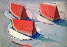 Wayne Thiebaud - Watermelon Slices