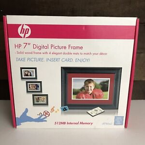 "HP 7"" Digital Picture Frame New Open Box No Pc Required"