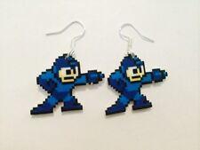 Mega Man Geek Video Game Gamer Earrings Handmade Plastic Charms Nintendo 8-Bit