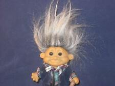 """4.5"""" RUSS TROLL OLD MAN WITH GRAY HAIR DIFFERENT BODY TYPE AND CANE+ COOL!  V55"""