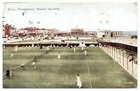 Antique colour printed postcard Rhyl Promenade Tennis Courts