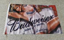Budweiser Sexy Girl Beer Bar Banner & Flags 3x5ft Advertising Decor Horizontal