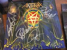 "Anthrax For All Kings 7"" VINYL SINGLE BOX SET MEGA FORCE  AUTOGRAPHED SIGNED"