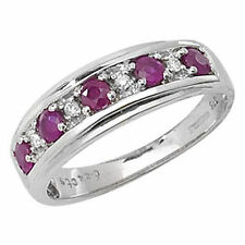 Unbranded Diamond White Gold Ruby Fine Rings