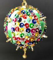 GORGEOUS Sequin Kit Christmas Ornament Handmade Miniature Tree  Rainbow Green