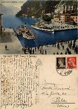 Riva sul Garda, Trento, panorama del porto e lago a colori, form. grande v. 1941