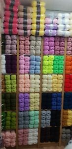 Double knitting 50 dk balls of hand knitting WOOL yarn 100% acrylic all 100g