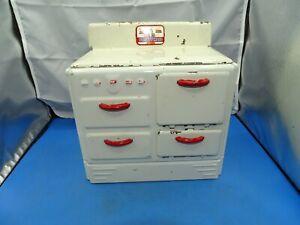 Vintage Pretty Maid Pressed Steel Toy Kitchen Stove