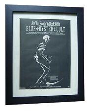 BLUE OYSTER CULT+Rock+Reaper+POSTER+AD+ORIGINAL 1978+FRAMED+EXPRESS GLOBAL SHIP