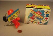 Vintage Yone wind up Toy Circus Air Plane MIB tin litho mechanical Japan 1960's