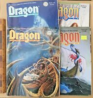 VINTAGE LOT OF 4 DUNGEONS & DRAGONS ROLE PLAYING MAGAZINE DRAGON OFFICIAL TSR!!!