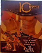 10 Minute Trainer Dvd Total Body/ Lower Body/ Abs/Cardio/Yoga Flex Beachbody